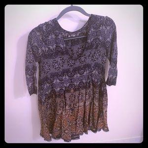 Top or short dress.